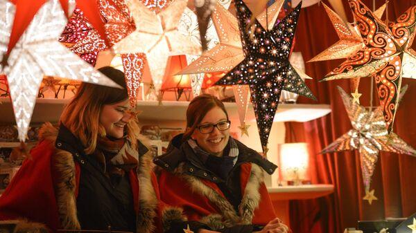 Во время открытия старейшей Рождественской ярмарки Штрицельмаркт в Дрездене