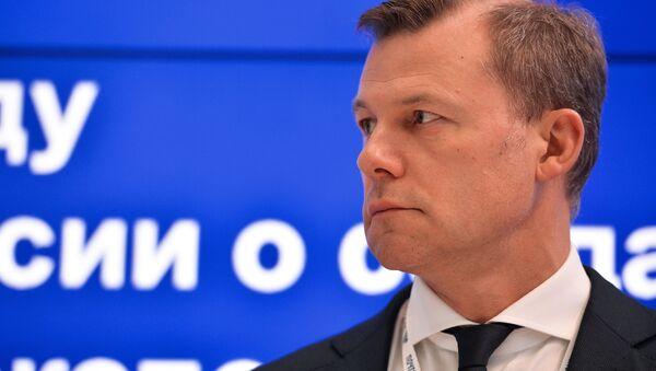 Генеральный директор ФГУП Почта России Дмитрий Страшнов на XX Петербургском международном экономическом форуме