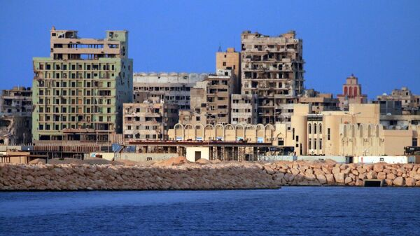 Вид на город Бенгази с моря
