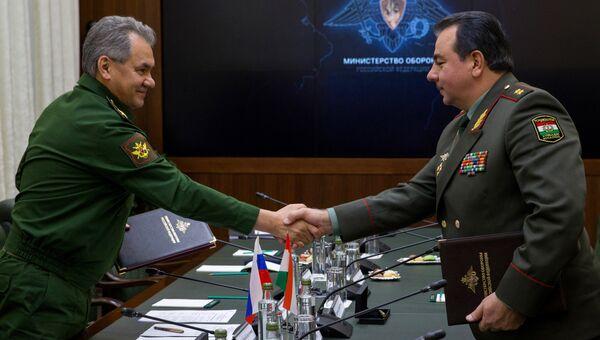 Министры обороны РФ и Таджикистана подписали план сотрудничества на 2017 год. 30 ноября 2016