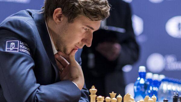 Гроссмейстер Сергей Карякин на чемпионе мира по шахматам в Нью-Йорке