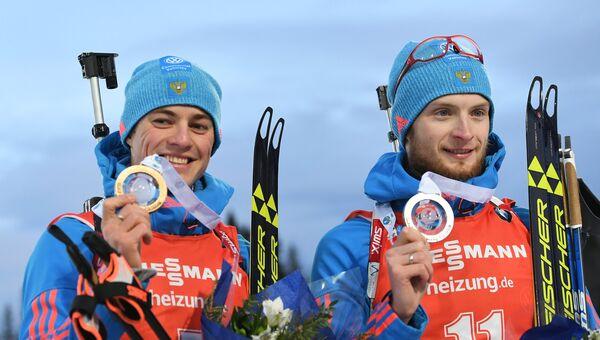 Российские биатлонисты Антон Бабиков и Максим Цветков завоевали золото и серебро в пасьюте на этапе Кубка мира в Эстерсунде