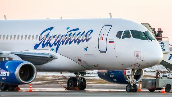 Самолет Sukhoi Superjet 100 авиакомпании Якутия