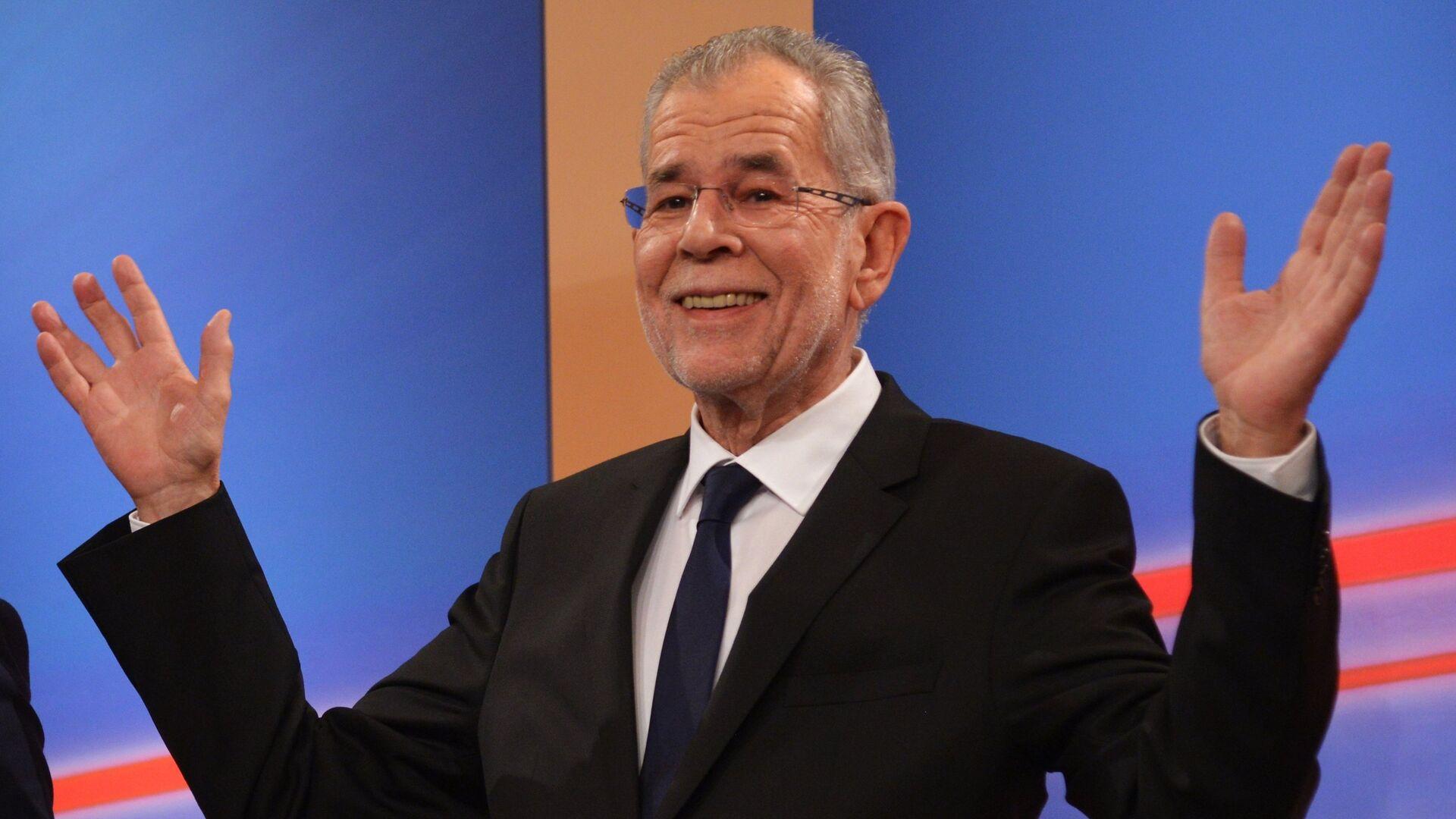 Кандидат на пост президента Австрии, бывший лидер зеленых Александр Ван дер Беллен - РИА Новости, 1920, 10.10.2021