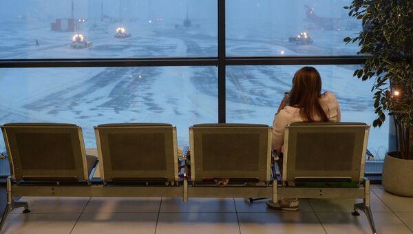 Задержка авиарейсов в аэропорту Шереметьево. Декабрь 2016