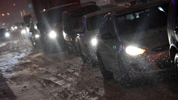 Автомобильное движение в Москве