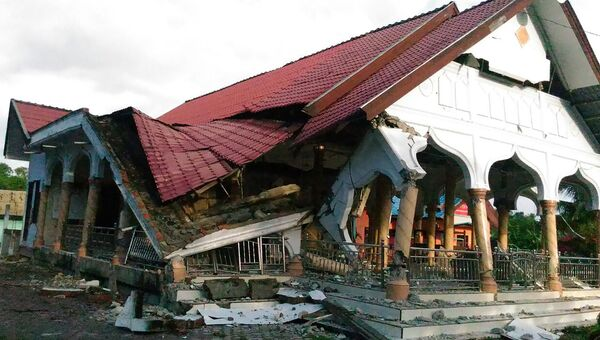 Последствия землетрясения в Индонезии. 7 декабря 2016 год