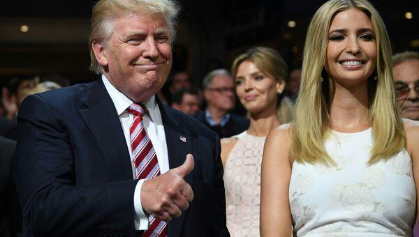 Иванка Трамп и ее отец Дональд Трамп. Архивное фото