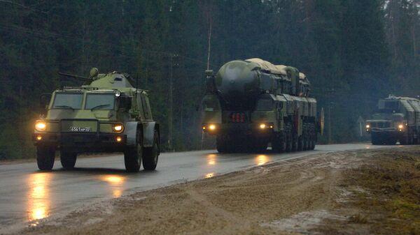 Эшелонированная система охраны ракетного комплекса Тополь-М. Архивное фото