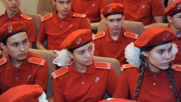 Участники слета регионального отделения Всероссийского движения Юнармия. Архивное фото