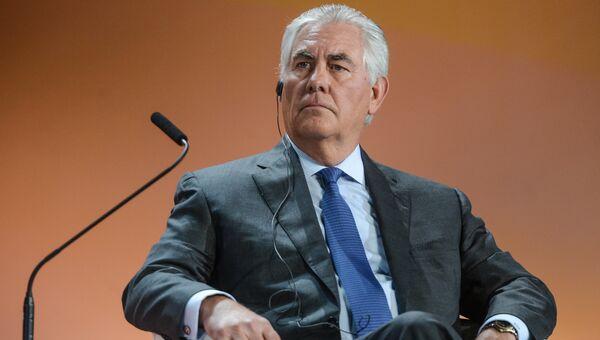 Рекс Тиллерсон на XXI Мировом нефтяном конгрессе в МВЦ Крокус Экспо