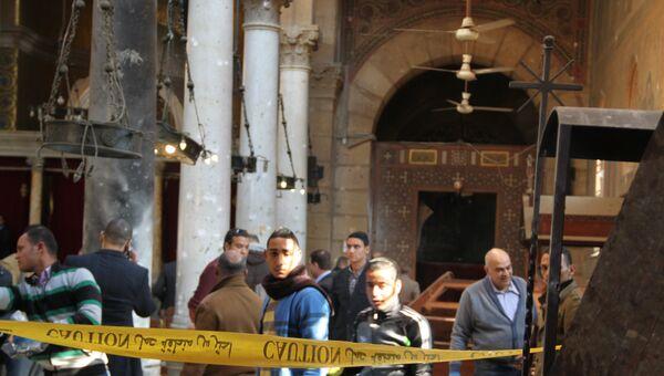 Последствия взрыва в коптской церкви в Каире. Архивное фото