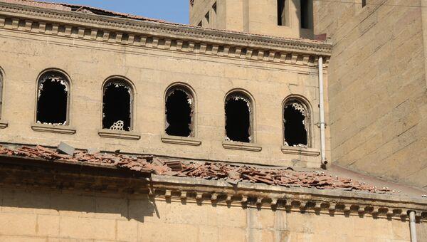 Последствия взрыва в коптской церкви в Каире
