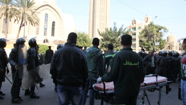 Последствия взрыва в церкви Аль-Бутросия в Каире