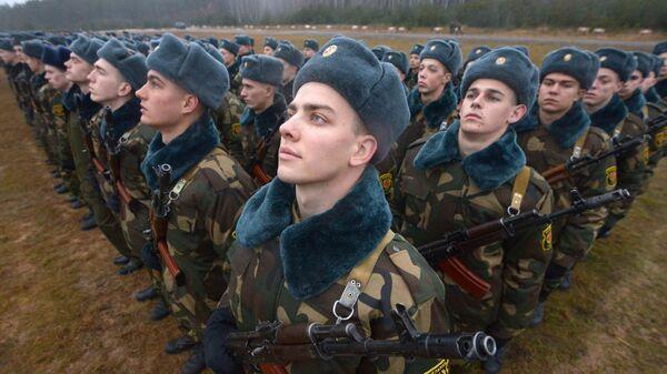 Церемония принятия военной присяги в Белоруссии