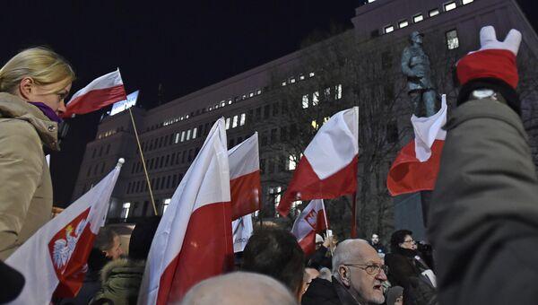 В Варшаве около 30 тысяч человек вышли на марш протеста