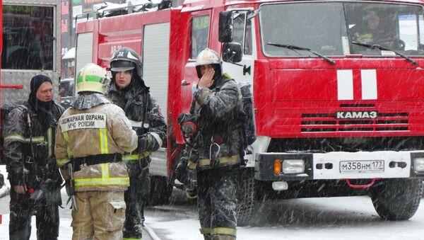 Московские пожарные. Архивное фото