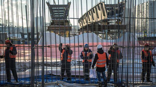 Строительство Южной рокады на пересечении Варшавского шоссе и Балаклавского проспекта