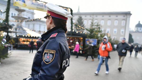 Сотрудница полиции в Австрии. Архивное фото