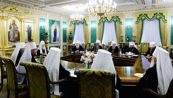 Заседание Священного синода Русской православной церкви. Архивное фото