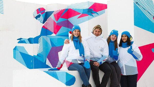 Волонтеры Зимней универсиады-2019 в Красноярске. Архивное фото