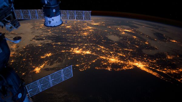Вид с МКС на Землю. Архивное фото