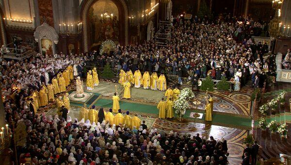 LIVE: Рождественское богослужение в храме Христа Спасителя в Москве