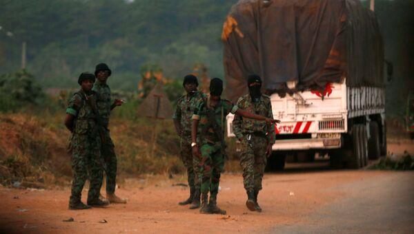Военнослужащие-мятежники, захватившие город Буаке в Кот-д`Ивуаре, 6 января 2017
