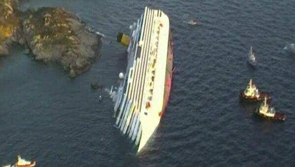 Потерпевшее крушение круизное судно Коста Конкордия