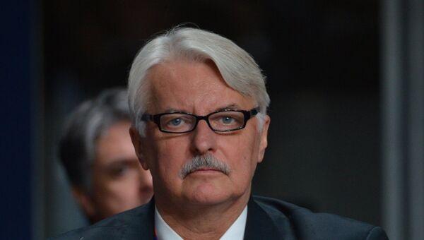 Министр иностранных дел Польши Витольд Ващиковский. Архив
