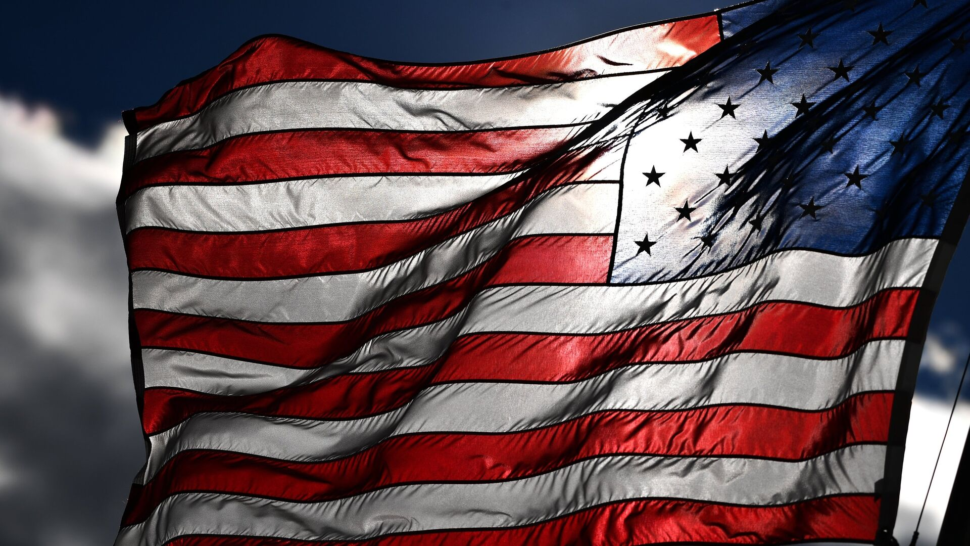 Американский флаг на одной из улиц в Вашингтоне - РИА Новости, 1920, 28.12.2020