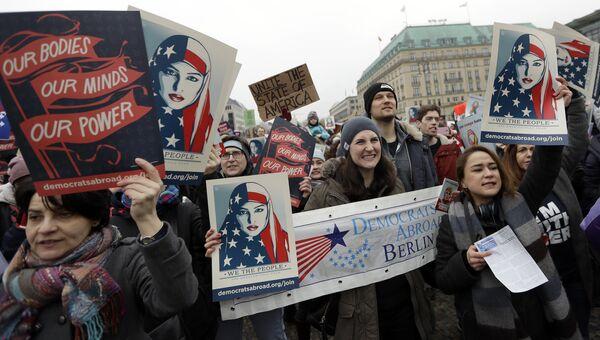 Женские протесты против Трампа в Берлине