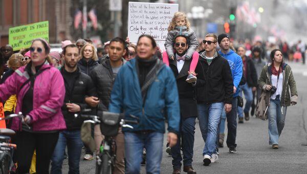Марш женщин в Вашингтоне. 21 января 2017 год