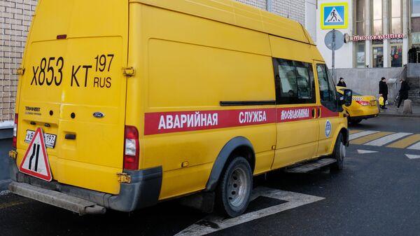 Автомобиль аварийной службы Мосводоканала. Архивное фото