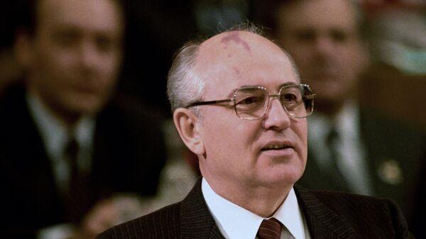 Генеральный секретарь ЦК КПСС Михаил Сергеевич Горбачев