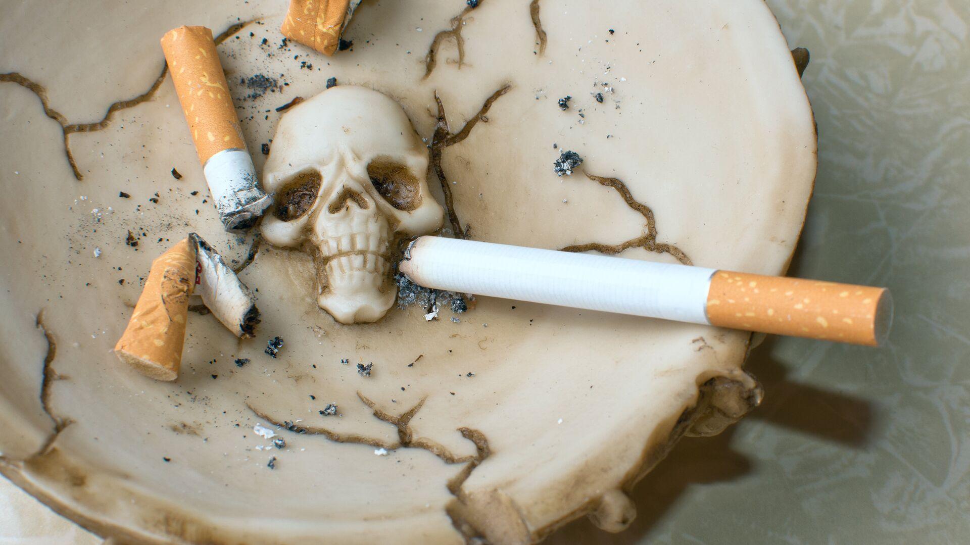 Сигареты в пепельнице - РИА Новости, 1920, 11.01.2021
