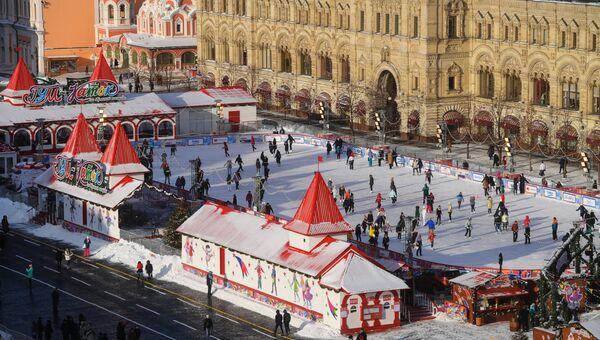 Гум-каток на Красной площади в Москве. Архивное фото.