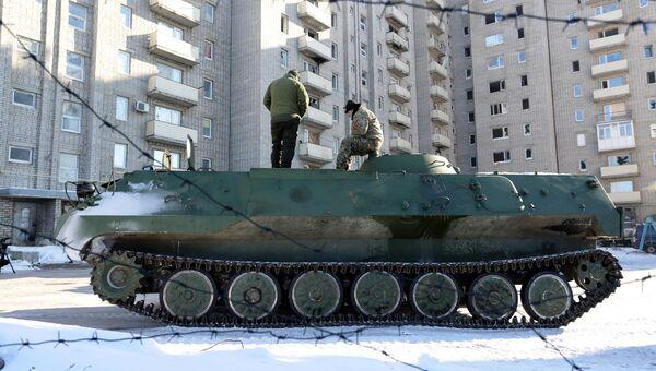 Бронемашина ВСУ в Авдеевке, Украина. Архивное фото