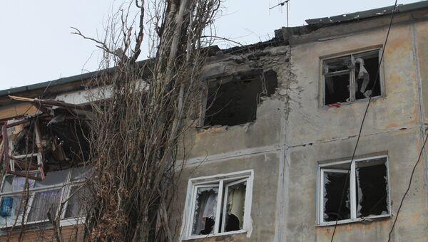 Ситуация после обстрелов в Донецке. Февраль 2017