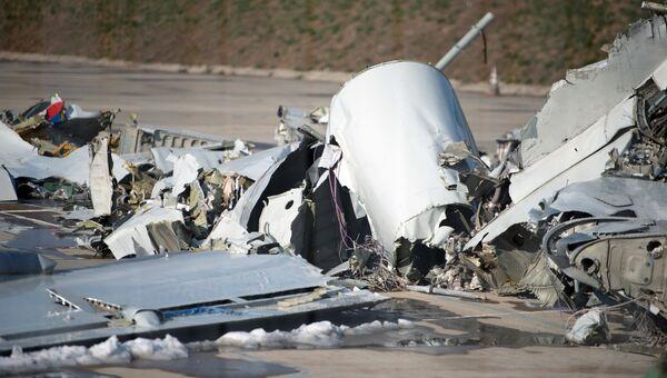 Обломки упавшего у берегов Сочи Ту-154. Архивное фото