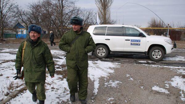 Бойцы народной милиции ДНР в селе Коминтерново Донецкой области