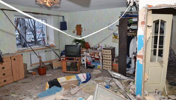 Комната жилого дома в Калининском районе Донецка, пострадавшего при ночном обстреле. Архивное фото