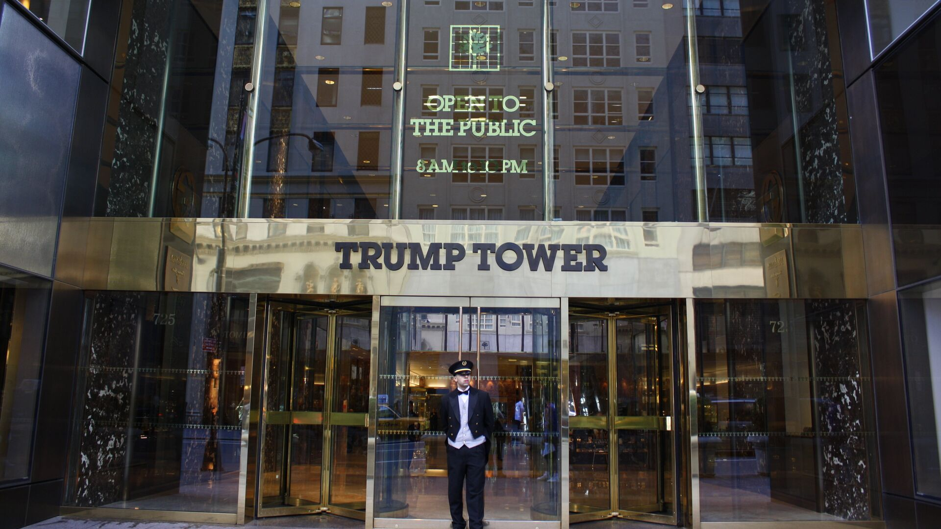 Главный вход в здание Trump Tower - РИА Новости, 1920, 20.02.2021