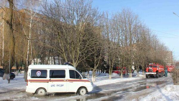 Автомобили экстренных служб на месте теракта. 8 февраля 2017