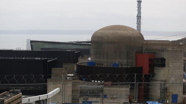АЭС Фламанвиль в регионе Нижняя Нормандия, Франция