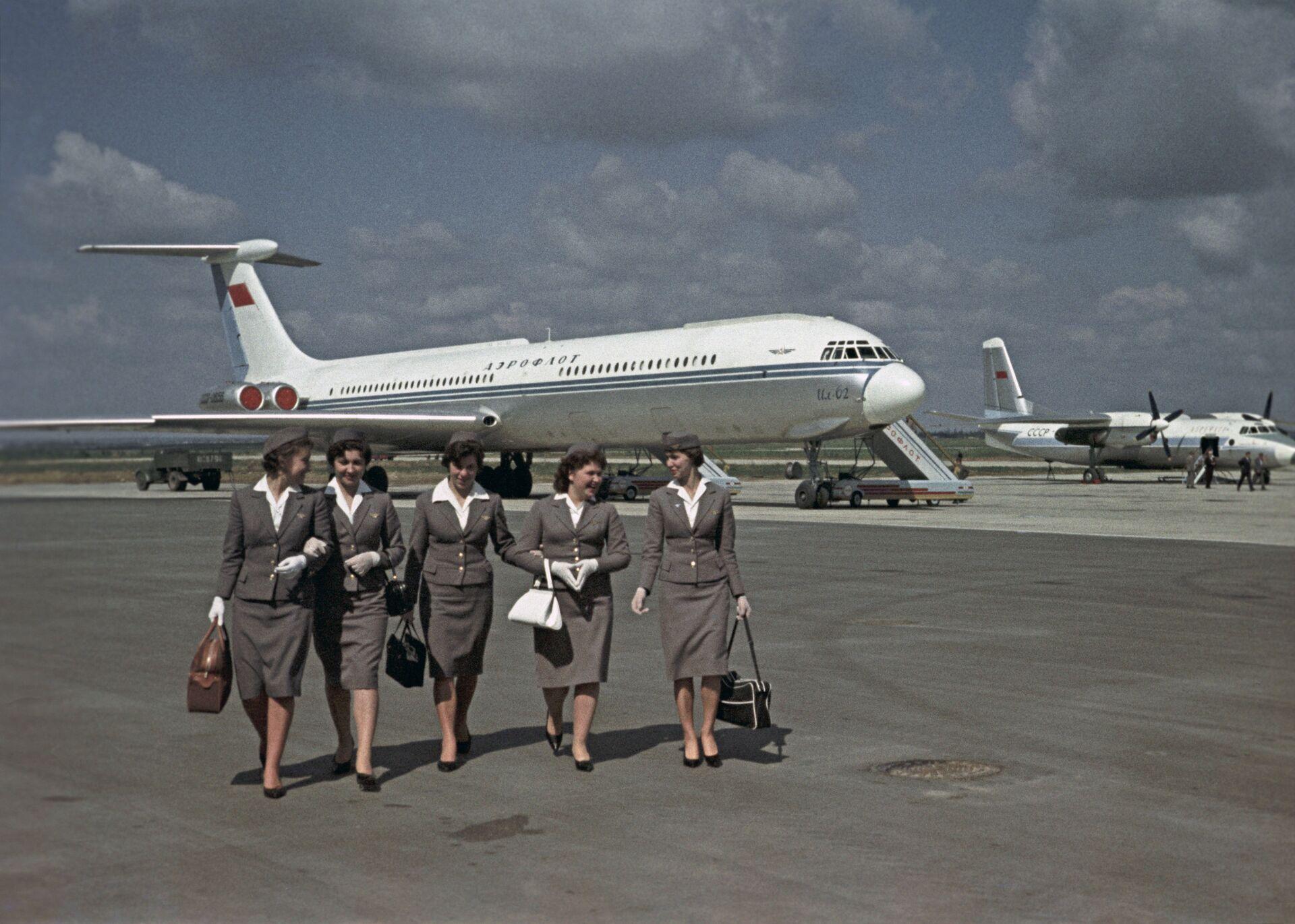 Самолет Ил-62 компании Аэрофлот в аэропорту Внуково - РИА Новости, 1920, 16.10.2020