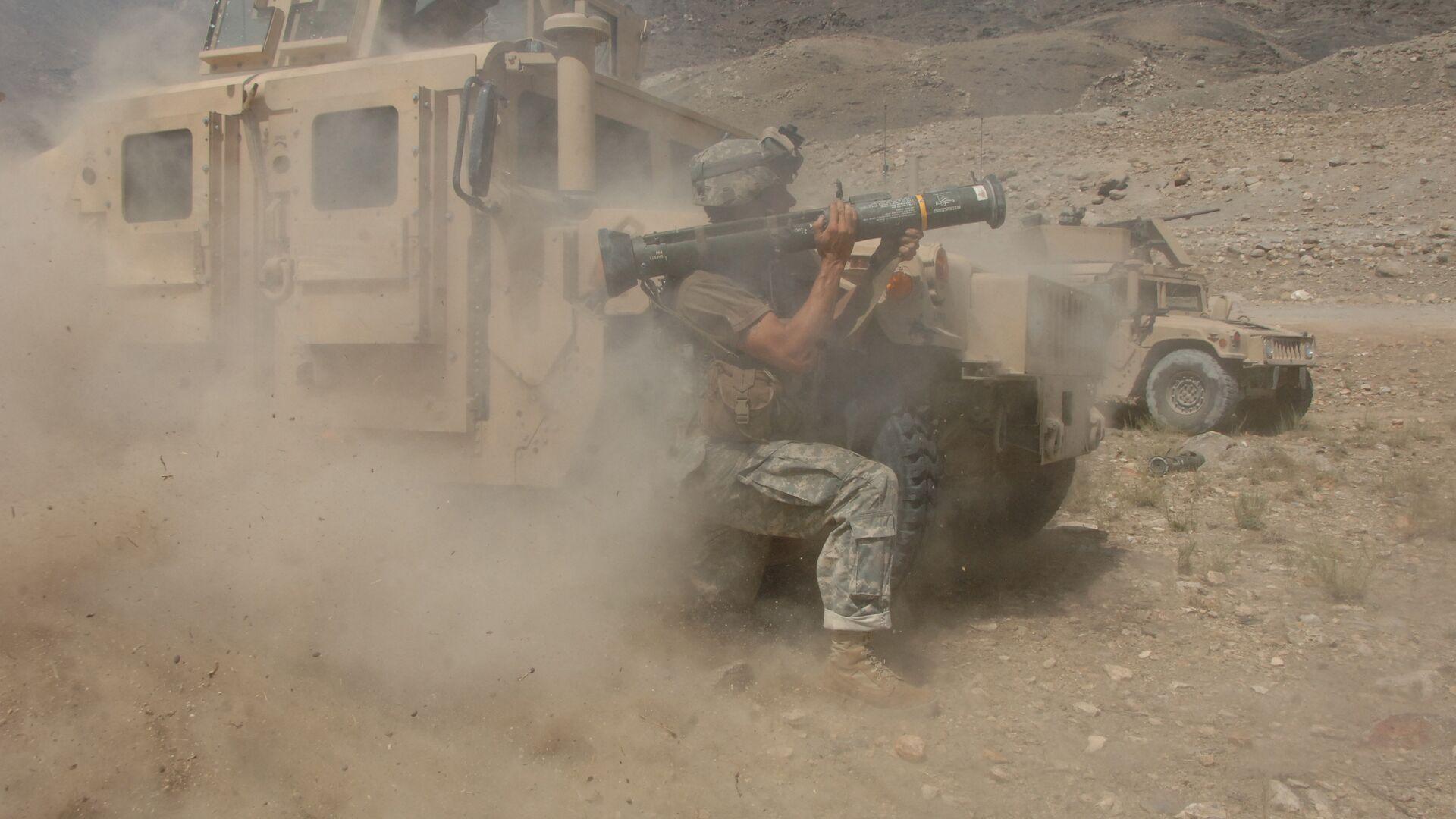 Американский военный во время столкновения с талибами в Афганистане - РИА Новости, 1920, 12.12.2020