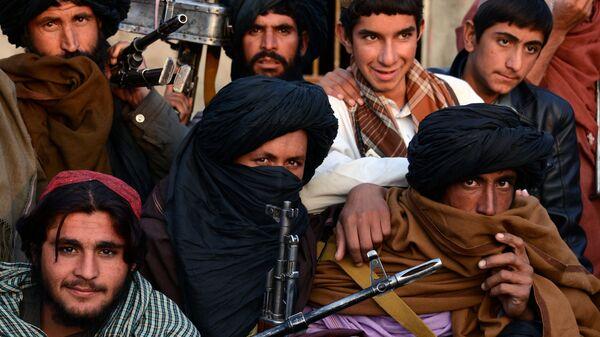 Афганские талибы в провинции Фарах