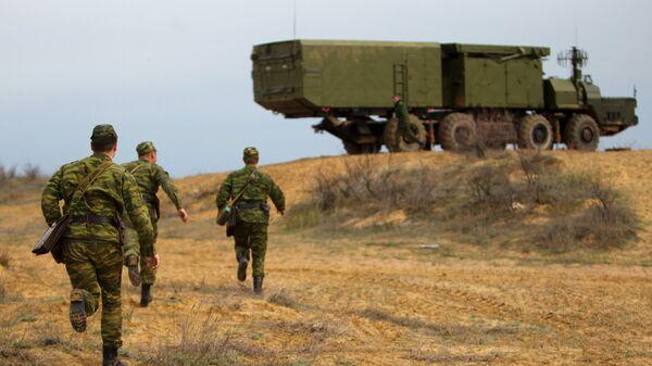 Зенитно-ракетная система С-300 на полигоне Ашулук в Астраханской области