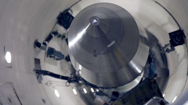 Американская межконтинентальная баллистическая ракета Минитмен-3 на базе ВВС Майнот, Северная Дакота